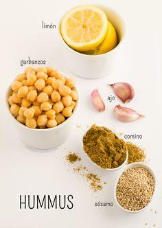 Ingredientes del Hummus | danzadefogones.com #vegan