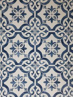 Nextwall Porto Moroccan Blue and White Patina Backsplash Tile | Etsy
