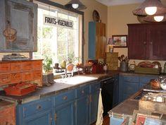 Bottom blue cabinets