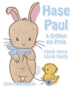 Der Stickbaer | Bunny Paul | Embroidery from heart