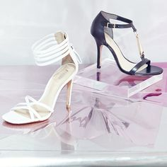 Black and white stilettos, meet our closet.