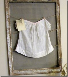 "love this idea for sweet outfits. can write details on the chalkboard - idea for ""the little white dress"""