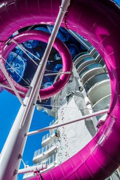 Harmony of the Seas   Twist into the Abyss. It makes sense that the tallest slide at sea sits on the largest cruise line in the world. At 150 feet above sea level, The Ultimate Abyss is a record-breaking world of fun. Take the ride of your life when you cruise with Royal Caribbean.