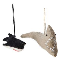 Felt Ornament Shark Whale 2Pc, $9,