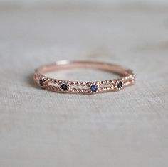 Five Step Sapphire Ring