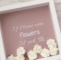 A beautiful frame filled with paper roses This makes a perfect gift for Mother s Day or a Birthday Frame measures 25cm x 25cm and is available in