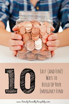 Fun and creative ways to save up for your emergency fund. We should all have an emergency fund.