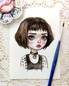 New watercolor postcard😊 #art #illustration #watercolorart #postcard #etsy #instaart #beautifulbizarre #Léon #blackfuryart