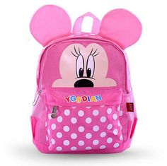 Mickey Mouse 3D Good-Quality Medium-Capacity Lightweight Backpack 3 Colors