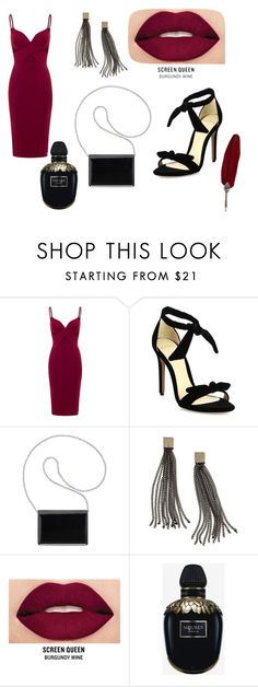 """""""sumptuous"""" by hanife-dogrul ❤ liked on Polyvore featuring Alexandre Birman, Nine West, Avon, Smashbox and Alexander McQueen"""