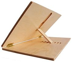 Adjustable Desktop Writing Slant Board (Large : I bet with a few adjustments, this could be an excellent tool for a signet! Handhold at the bottom, router the slots right out, etc. maybe a ledge, and an ink hole. Art Studio Design, Art Studio At Home, Woodworking Plans, Woodworking Projects, Woodworking Chisels, Youtube Woodworking, Woodworking Basics, Woodworking Magazine, Rangement Art
