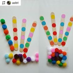 Images about #Abeslang tag on instagram Pre K Activities, Motor Skills Activities, Toddler Learning Activities, Preschool Learning Activities, Color Activities, Kids Learning, Art For Kids, Crafts For Kids, Math Patterns