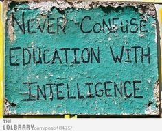 This is for all my smart friends.