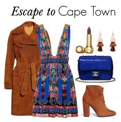 """""""Escape to Capetown"""" by iamalexthegreat ❤ liked on Polyvore featuring Belstaff, Camilla, Stella Luna, Chanel, Christian Dior, travel and CapeTown"""