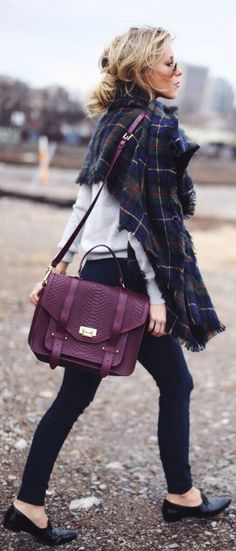 #fall #fashion / oversized scarf