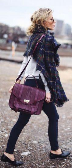 #fall #fashion / oversized scarf