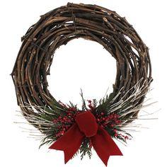 Floral Treasure Holiday Cabin Preserved Wreath & Reviews | Wayfair