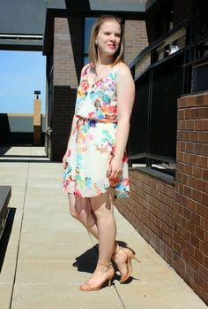 The Mint Julep | Something Good, floral dress, nudist heels, rockbox jewelry
