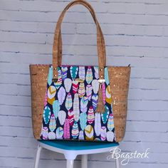 Custom order Everyday Tote in @michaelmillerfabrics and #corkfabric ❤ PATTERN LINK IN BIO !! #corkfabric #michaelmiller #michaelmillerfabrics #corkbag #everydaytote #bagstocksewingpatterns #customorder #handmade #handmadeinindia #bagstock_ig