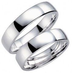 Neutrala förlovningsringar i vitguld från vackra Schalins