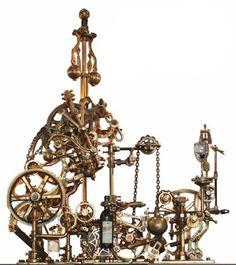 That's a fancy wine opener! http://walyou.com/steampunk-wine-bottle-opener/