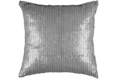 Shimmer 18x18 Pillow, Silver on OneKingsLane.com