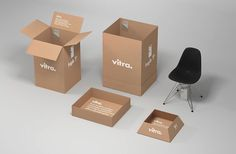 Vitra Packaging by @bvd  #brandidentity#brand#branding#identity#logo#graphic#graphicdesign#type#typeface#typography#print#press#paper#london#NY#creative#design#vitra#webdesign#bookdesign#publish#publishing#art#tokyo#stationery#architecture#lasercut#funiture#eames by idntity
