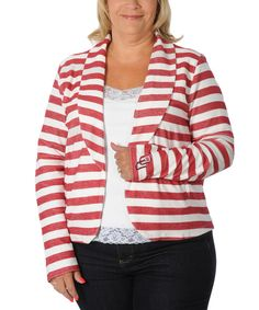 7dabec3c73fad Look at this Oklahoma Sooners Stripe Fleece Blazer - Plus on  zulily today!  Oklahoma