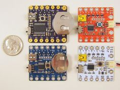 """SquareWear - open-source microcontroller board. """"SquareWear is primarily used for wearable electronics projects, such as reading sensors, controlling LEDs sewed onto fabrics, and sending data to a computer through its USB port. It is low-cost and particularly suitable for beginners of wearable electronic projects or school workshops."""" Cool!"""