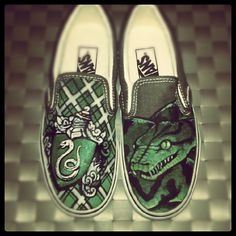 slytherin shoes. I need these in my life.