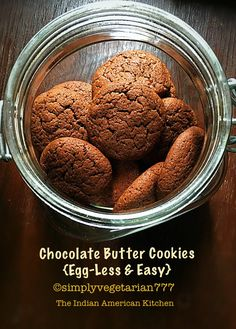 Chocolate Cookies - Eggless & Easy, how to make cookies without eggs, home made chocolate cookies recipe, chocolate shortbread recipe, kids can bake recipe Chocolate Shortbread Recipe, Chocolate Butter, Chocolate Cookie Recipes, Easy Cookie Recipes, Baking Recipes, Dog Food Recipes, Chocolate Chips, Chocolate Biscuits, Cake Chocolate