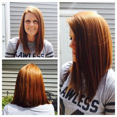 Lob (long bob) by Nicole Long Bob Haircuts, Long Bob Hairstyles, Long Angled Haircut, Angled Lob, Long Lob, Lob Hairstyle, Lob Haircut, Dark Caramel Hair, Caramel Color