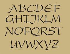 STENCIL Country Primitive 2 Caps LC Alphabet Signs