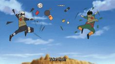 XDDDDDDD this is how i usually fight a person #kakashi #mightguy LOL one of my favorite episodes
