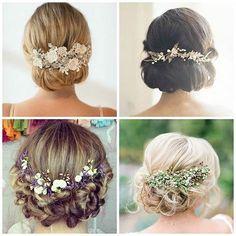 ¿Qué tocado escogeríais? ¡Nos gustan todos! Which headband would you pick? We love them all! Pic: Pinterest #airebarcelona #airebarcelona2016 #peinados #haistyle #bride #novia #hair #pelo