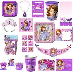 Disney Sophia the First ...Party accessories for my little doll!!