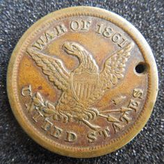 *CIVIL WAR DOG TAG's ~ were used as a means of identification for soldiers.