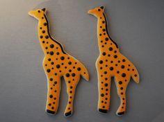 Giraffe Sugar Cookies by LittleMissCookieCo on Etsy, $38.00