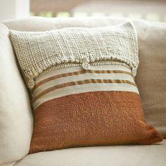 Pumpkin Button Knit Pillow