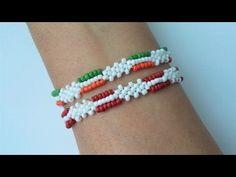Easy beaded bracelet tutorial. Beginners beading bracelets - YouTube
