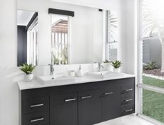 Bathroom Design Ideas - Photos of Bathrooms. Browse Photos from Australian Designers & Trade Professionals, Create an Inspiration Board to save your favourite images. Bathroom Design Inspiration, Modern Bathroom Design, Design Ideas, Romantic Bathrooms, Amazing Bathrooms, Just Cabinets, Cupboards, Black Bathtub, Bathroom Pictures