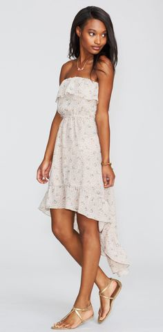 Ruffle High-Low Floral Dress