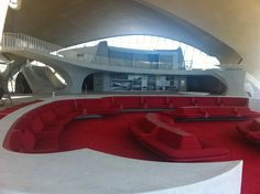 lobby lounge TWA Terminal designed by Eero Saarinen at the John F. Kennedy International