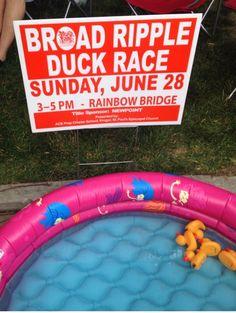 Broad Ripple Duck Race. June 2015