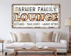 Family Theater Lounge Sign Modern Farmhouse Wall Decor, Personalized Last Name Sign Living Room, Vintage Industrial Wall Art Game Movie Room Farmhouse Wall Decor, Modern Farmhouse, Industrial Wall Art, Home Theater Decor, Lounge, Room Wall Decor, Game Room, Beautiful Textures, Comfort Zone