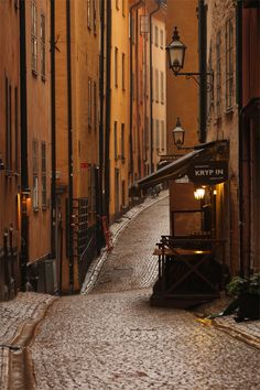 The Old Town - Gamla stan   Stockholm Sweden.  By Russ David. September 2013