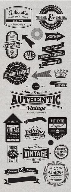 Vintage Style Badges and Logos: