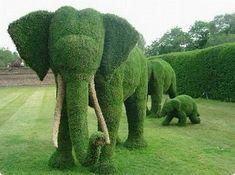 Garden Art Elephants