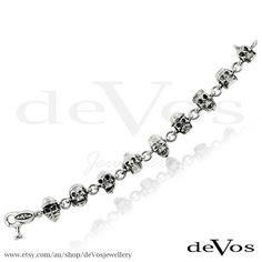 Crazy Skulls Bracelet 2 by deVosjewellery on Etsy