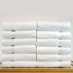 100% Genuine Turkish Cotton Luxury Wash Towels Set 12 Bath White Hotel And Spa #BareCottonCorp